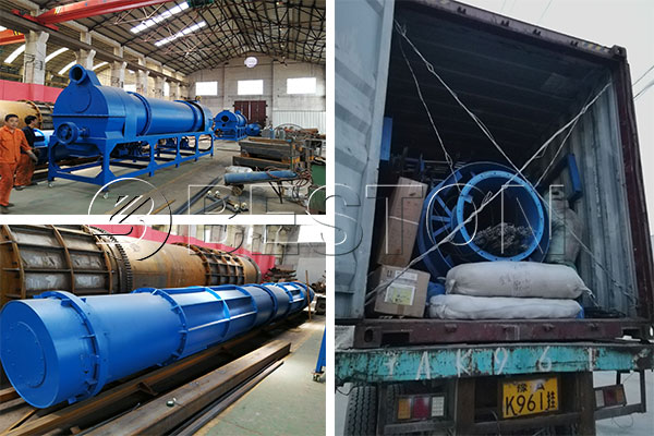Beston Charcoal Making Machine Shipped to Uzbekistan